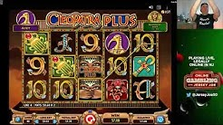 Cleopatra Plus slots LIVE with BIG WIN [Online Gambling with Jersey Joe # 50]
