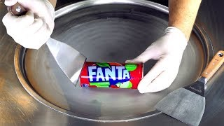 ASMR - Fanta Cherry & Apple Ice Cream Rolls | oddly satisfying ear to ear tingles & relax Sounds 4k