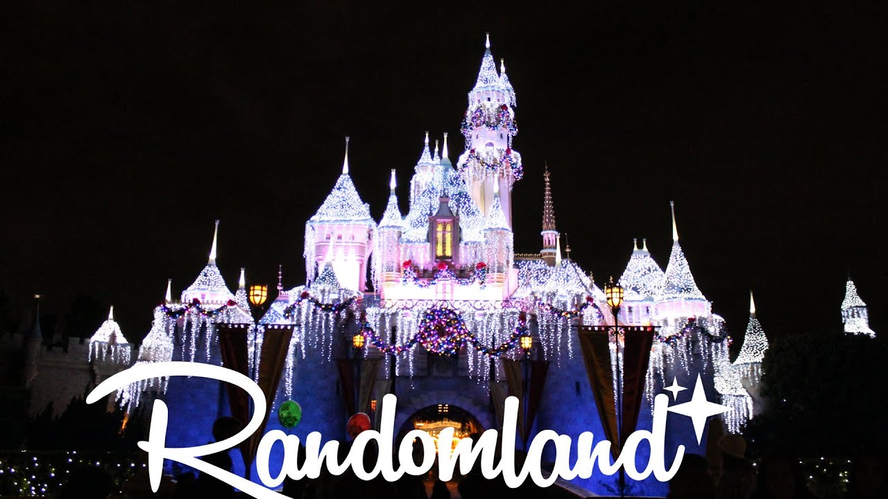 disneyland at christmas time at night youtube