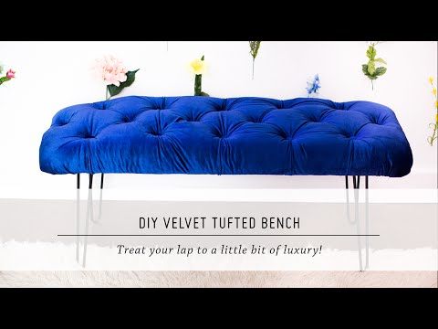 Diy Velvet Tufted Bench  Home Decor Tutorial  Interior Design  Mr Kate