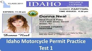 Idaho Motorcycle Permit Practice Test 1