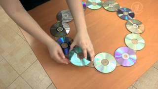 Часы из компакт-дисков/часы своими руками