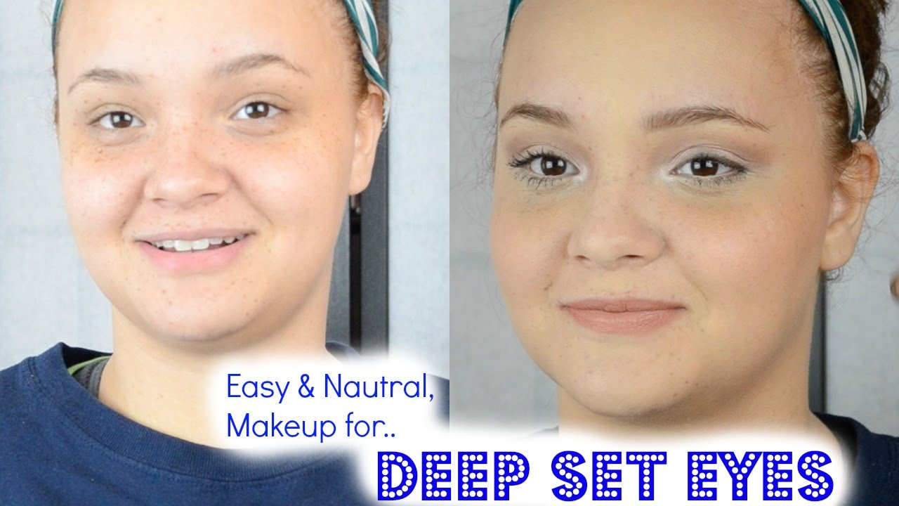 how to get deep set eyes naturally