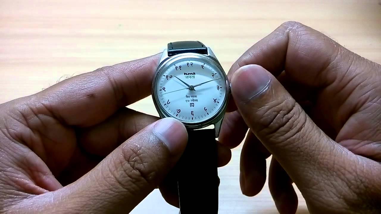 HMT Janata - Winding an HMT mechanical watch. - YouTube