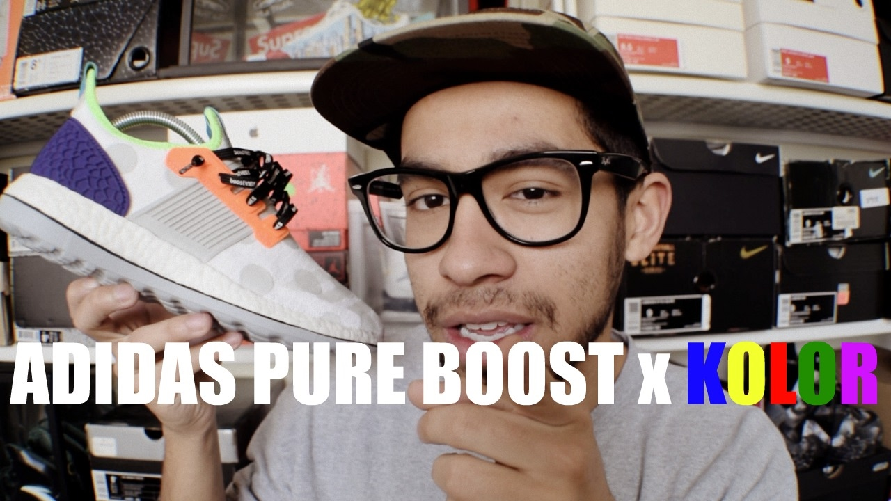 buy popular b3cfa 9e21d Adidas Pure Boost ZG x Kolor - Review On Feet