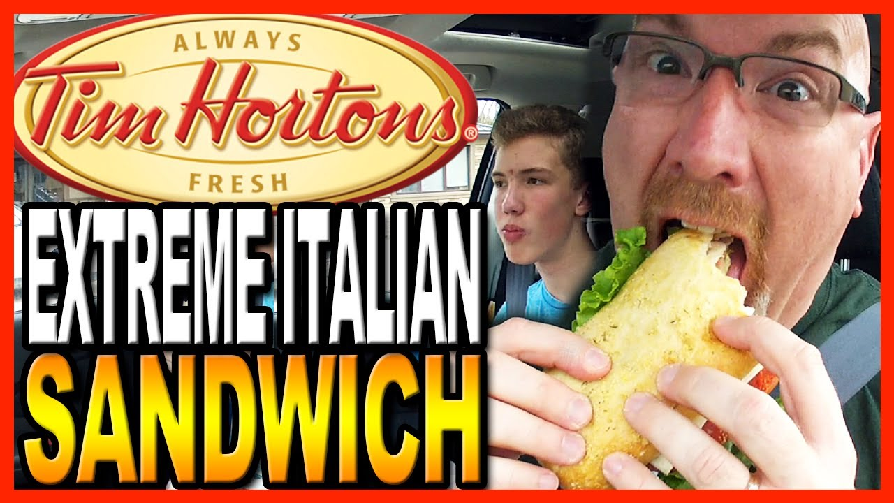 Tim Hortons ★ Extreme Italian Sandwich ★ with co-host Ben Domik