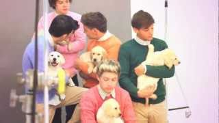 WONDERLAND TV: One Direction with puppies - Behind the Scenes of the Cover [Full Video]