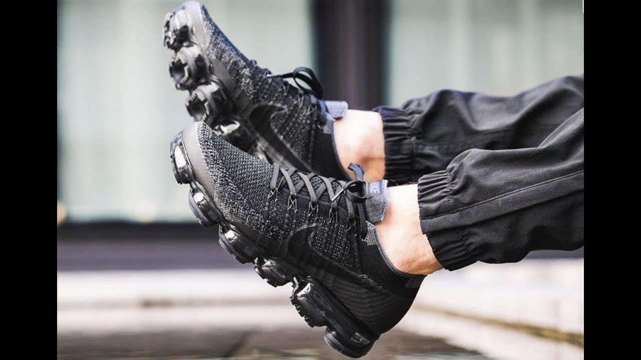 super popular 6a230 22bf5 NIKE AIR VAPORMAX FLYKNIT 2 SNEAKER UNBOXING, REVIEW, ON FOOT  (BLACK/ANTHRACITE)