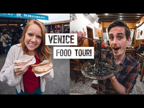 Cheap Food Guide to VENICE, ITALY! - Black Ink Pasta, Incredible Stuffed Croissants & MORE!