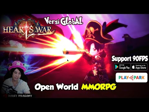 Support 90FPS - Job Pirate Gameplay !!! Heartswar (ENG) Android MMORPG - 동영상