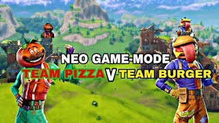 Fortnite: Nέο Gamemode Team Pizza Vs Team Burger