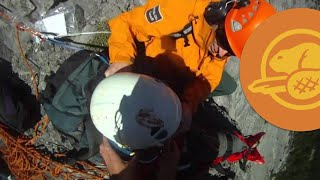 Banff National Park - Climber Rescued on Cascade Mountain