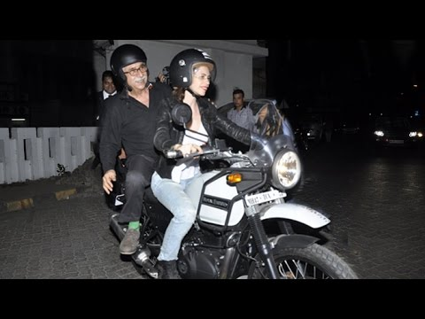 Kalki Koechlin Riding Royal Enfield Himalayan Bike On Mumbai Roads