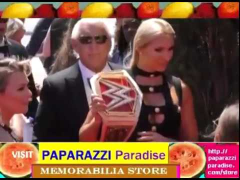 RIC FLAIR brings his young wife and his belt to ESPY Awards