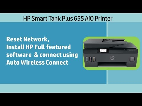 HP Smart Tank 500|651|655 printer: Download & Install Software & connect using Auto Wireless Connect