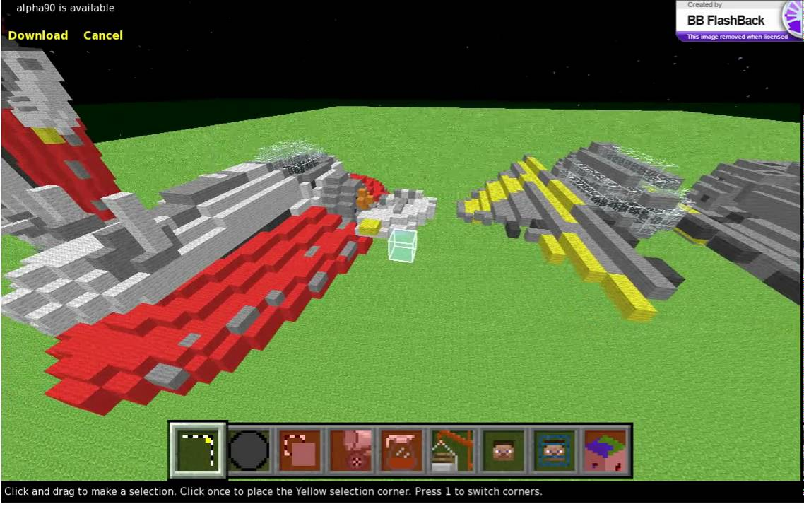minecraft how to make a star wars ship