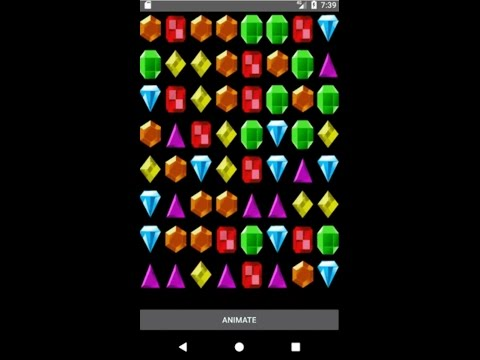 Bejeweled Jewel Runtime Animation For Android