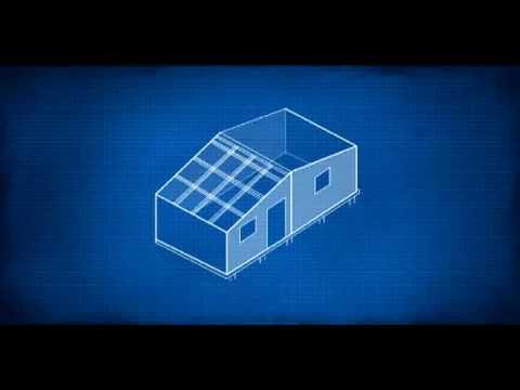 Como construir una media agua techo pt5 youtube for Como hacer un techo a cuatro aguas