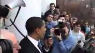 Barack Obama campaining for socialist Senator Bernie Sanders