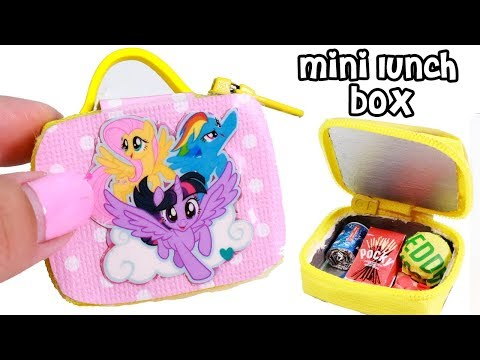 DIY Miniature My Little Pony School Lunch Bag with Food!