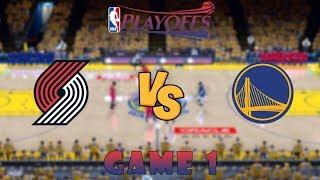 Portland Trail Blazers vs. Golden State Warriors - Game 1 - Conf. Finals - NBA Playoffs! - NBA 2K19