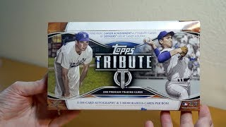 2018 Topps Tribute 1 Box Break! A sweet HOFer box!