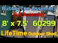Lifetime Shed 8' x 7.5' 60299 Outdoor Shed Full Assembly How to Build Install