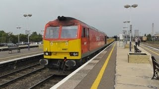 """DB """"Safety"""" 60007 on 6O26 @ Didcot 27/07/12"""