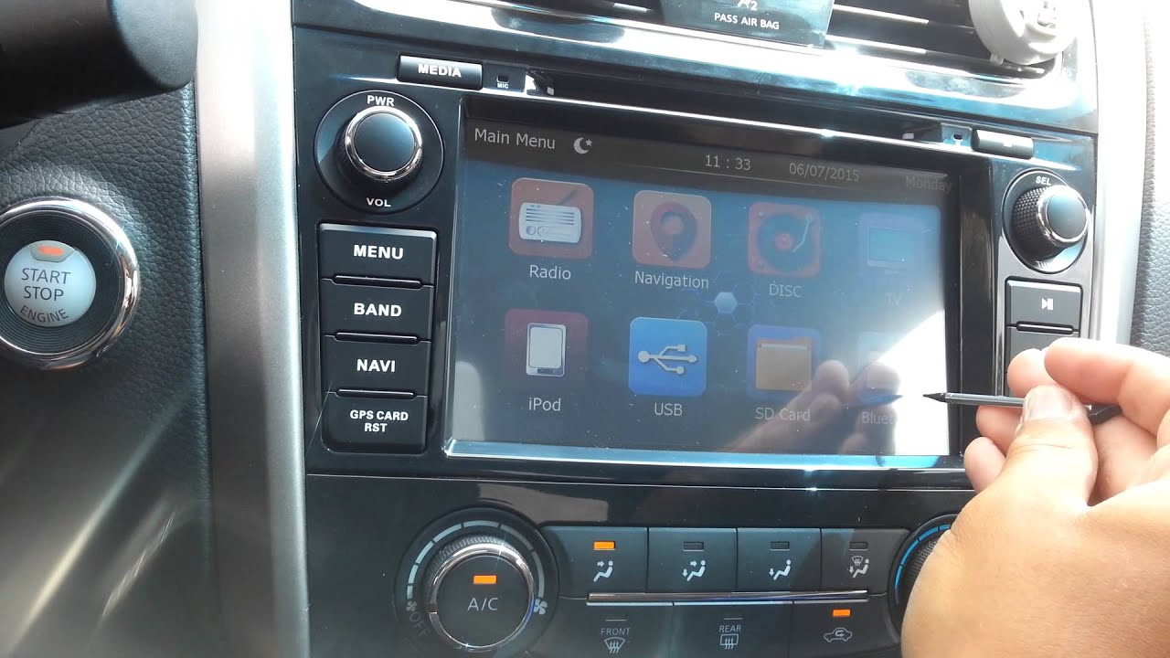 aftermarket radio wiring diagram 72 chevy truck 2013 altima teana navigation system - youtube