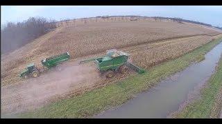 2017 Ohio Corn Harvest in the mud - Green Oak Farms