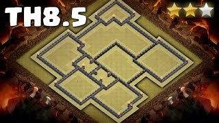 Clash Of Clans - Town Hall 8.5 (TH8.5) War Base September 2016 ♦ Anti 3 Star ♦ NO X-BOWS/AT/WT