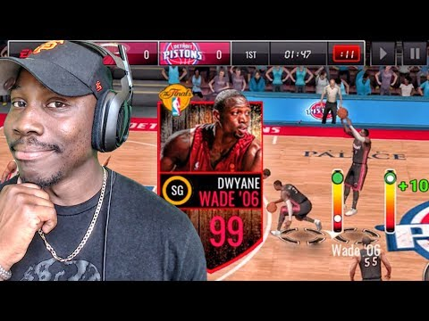 STEP BACK JUMP SHOT TUTORIAL WITH 99 OVR WADE! NBA Live Mobile 16 Gameplay Ep. 128