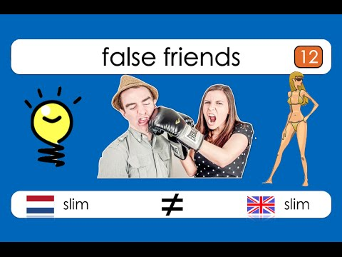 False Friends - Dutch/English: slim vs slim !