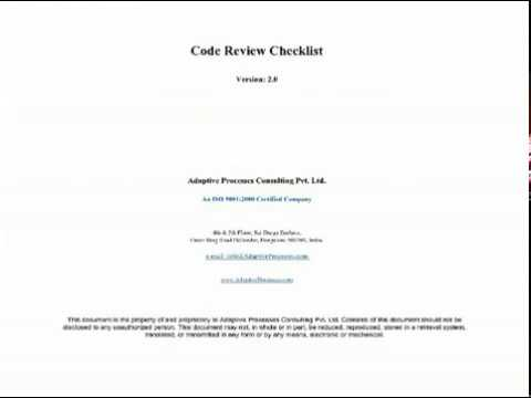 Code Review Checklist - YouTube