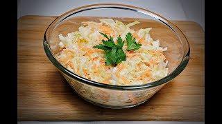 5 Dakikada Hazır Beyaz Lahana Salatası / Coleslaw / Acayip Tarifler