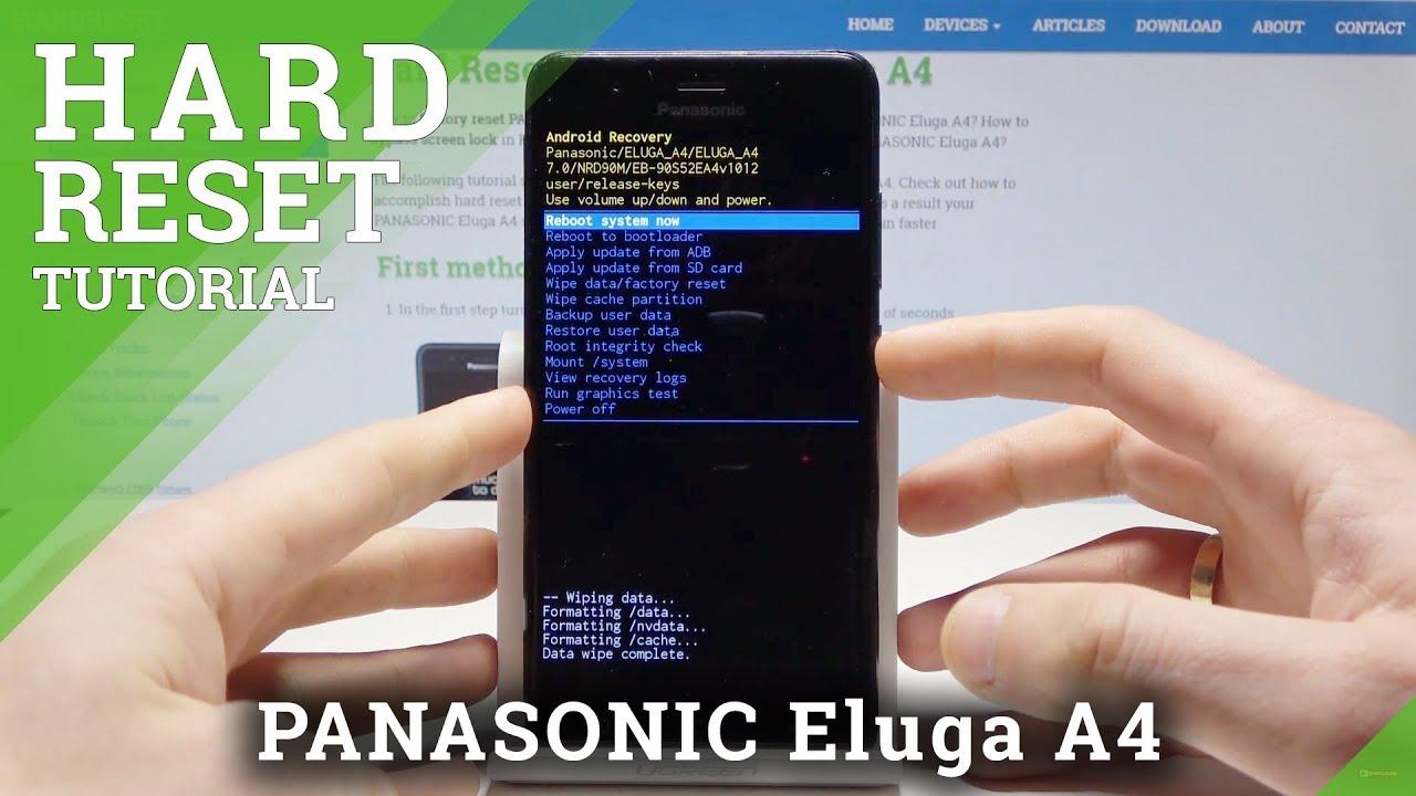 Hard Reset PANASONIC Eluga A4 - Factory Reset by Hardware Keys / Screen  Lock Bypass