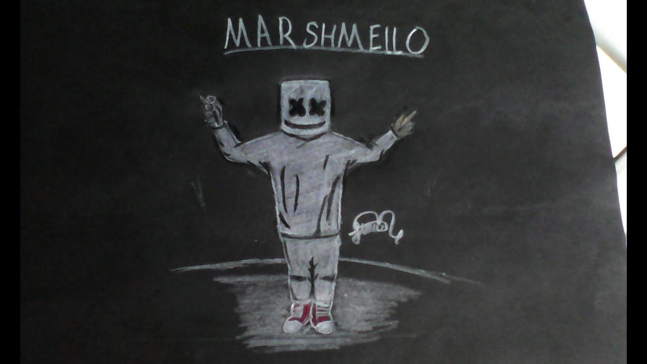 Deadmau5 Wallpaper Hd Dibujando A Dj Marshmello Marshmallow Youtube