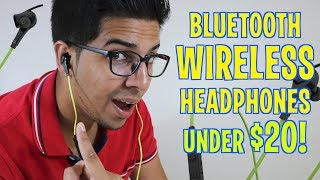UNBOXING & REVIEW - Bluetooth Wireless Headphones for under $20! by YiLuxr
