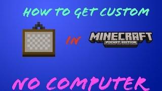 How Install Custom Painting Minecraft Pe No Computer
