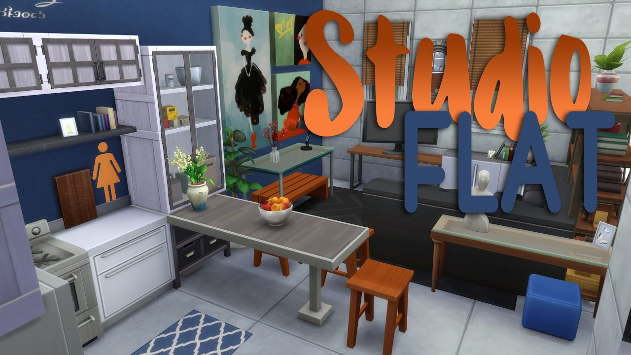 Captivating The Sims 4   Room Build   Studio Apartment   YouTube