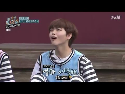 (indo-sub)-ha-sungwoon-and-x1-(wooseok,-yohan,-hyungjun)-sing-at-mafia-game-in-prison-episode-25