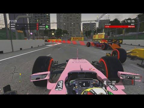 Formula 1 Singapore GP - F1 Race Gameplay 2017