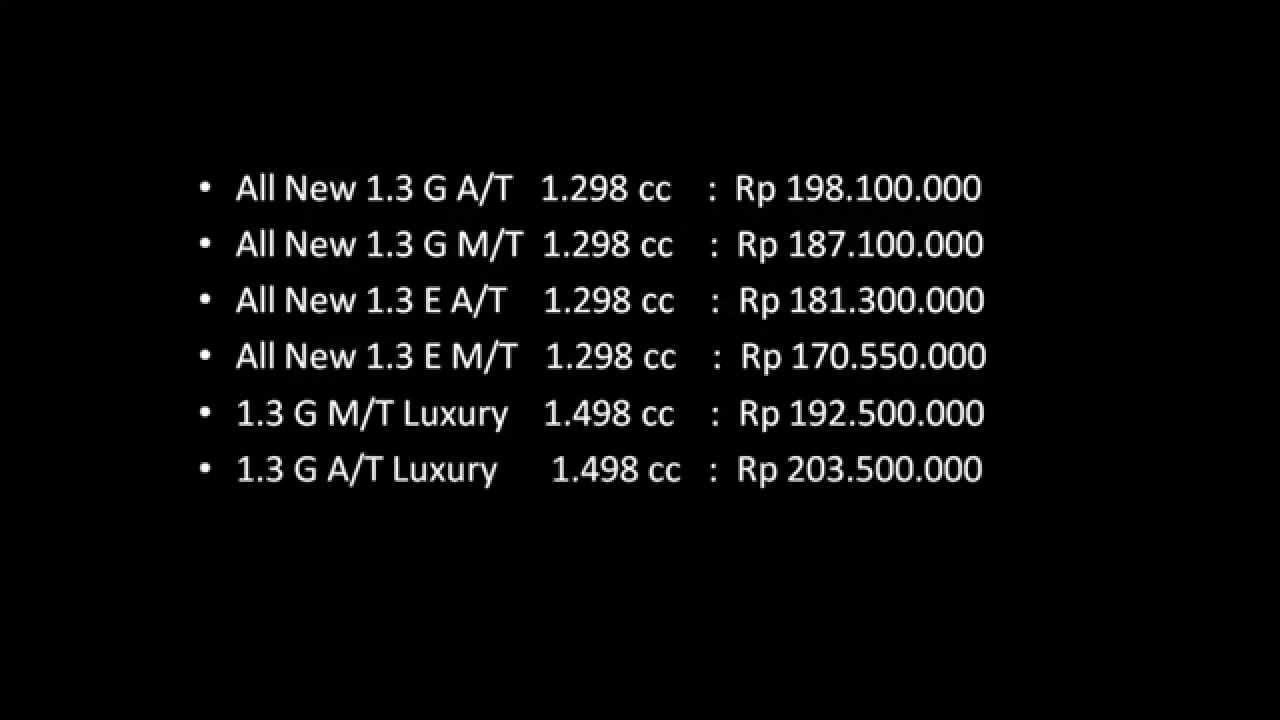 harga grand new avanza tahun 2016 interior all camry mobil toyota 2015