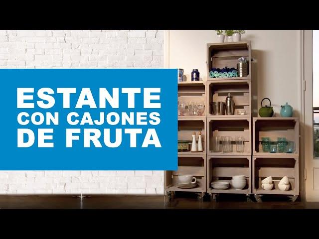 Cómo hacer un estante con cajones de fruta?   youtube