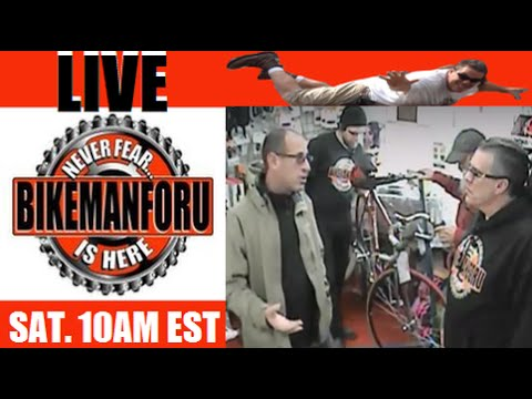 """Bike Shop LIVE - BikemanforU S4E3 """"The Bull on Forks"""" 01/16/16"""