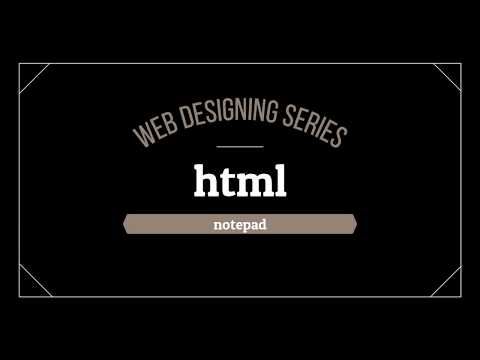 HTML tutorial 0-Introduction Lecture thumbnail