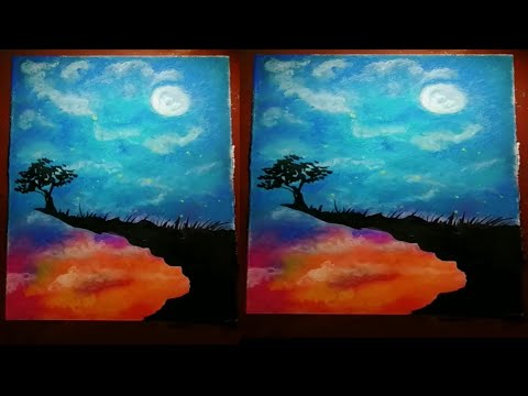 easy beautiful painting||easy dry pastel painting||landscape painting||scenery||