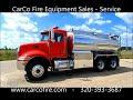 Peterbilt Tanker Fire Truck For Sale