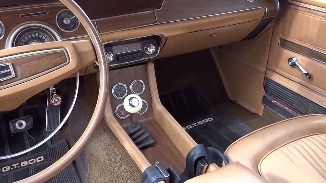 for sale 1968 shelby cobra gt 500 mustang gt500 walk around 2 interior youtube. Black Bedroom Furniture Sets. Home Design Ideas