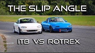 Supercharged vs All Motor Miata Battle - The Slip Angle